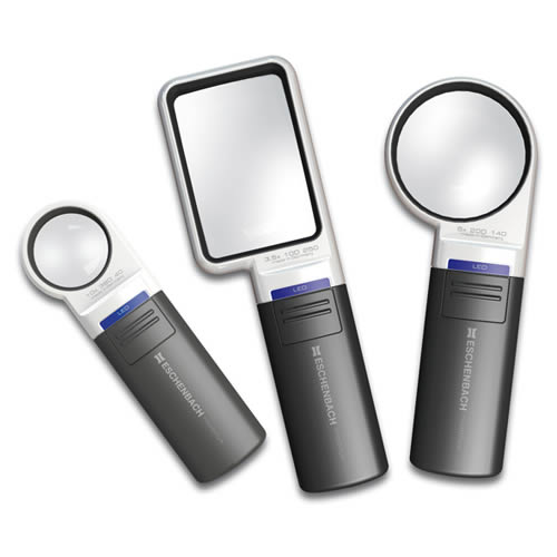 Three magnifiers