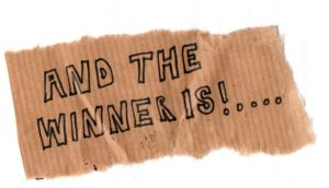 "Ticket with text ""And the winner is"""