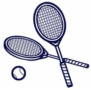 Cartoon tennis equipment