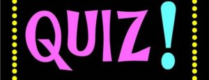 """""""QUIZ!"""" in purple letters on a black background"""