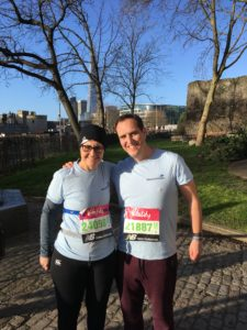 Julie and Alan at the Vitality Big Half